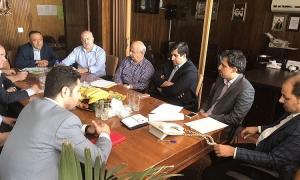 جلسه هماهنگی هیئت مدیره بامسئولین شهرداری منطقه دوازده