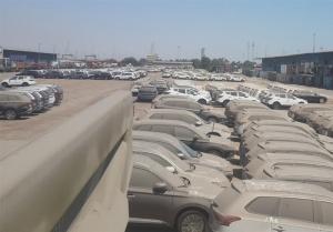 جابهجایی دهها خودروی خاک گرفته در گمرک به مقصد نامعلوم + تصاویر